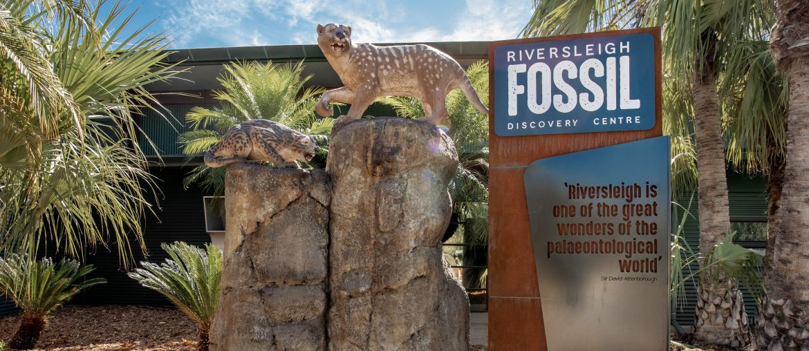 Riversleigh Fossil Centre entrance at Outback at Isa